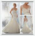 Ywd10214 fantasia queen anne decote do vestido de casamento vestido de casamento muçulmano 2013 estilo africano vestidos de casamento