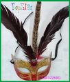 recién de plumas de pavo real máscara de ventas caliente de papel mache máscaras venecianas