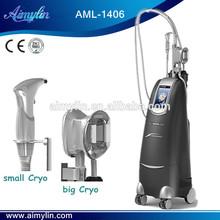 Cryolipolysis + Vacuum Multipolar RF +Blue\ Red Light +Laser hand piece for Body Slimming Machine