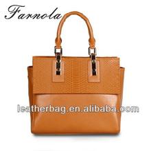 high qualtiy latest design office ladies geniune leather handbag wholesale