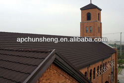 Building material stone coated metal roof tile