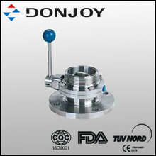 Manual single flange single thread butterfly valve with pull handle