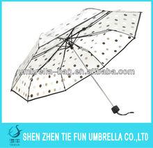 Transparent folding clear umbrella