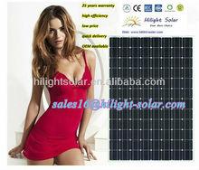 High-efficiency 150 Watt Mono Solar Panel with TUV certificate