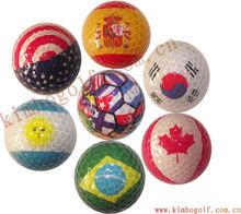 Customized flag golf ball