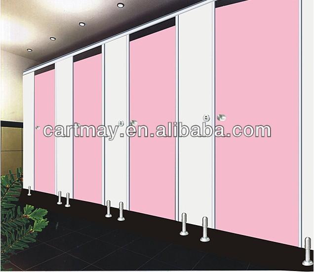 pink venetian office toilet partition