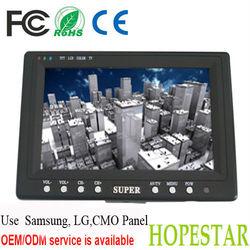 7'' TFT LCD car Monitor with HDMI/AV/VGA/TV input
