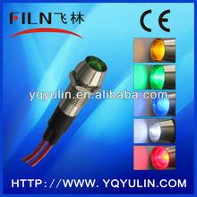 50pcs/lot green Led 12v metal 8mm pilot light FILN