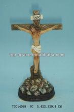 Ceramic Jesus cross figurine crafts for childen and baby