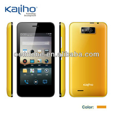 Yellow color 4.0 inch low end smart phone plastic housing