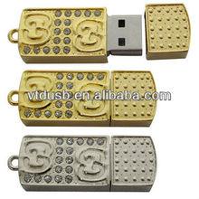 Wholesale gold full capacity custom bulk 1GB USB flash drives/pendrives/pen drives pcb boards