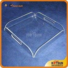 simple design acrylic hotel service tray