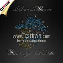Dance girl hot fix custom fashion strass design