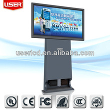 Digital signage kiosk with Phone charger and shoe polisher