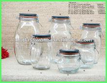 6 set Storage jar with lid