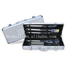 BQ-5005 knife and fork bbq set In a alu case