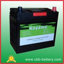 CBB JIS&DIN Standard MF battery 46B24L maintenance free car battery NS60L 12V45AH