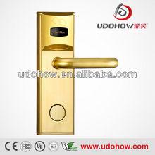Gold Color Electronic rf Swipe Card door lock