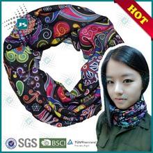 Multifunctional seamless tube bandana fashion accessory