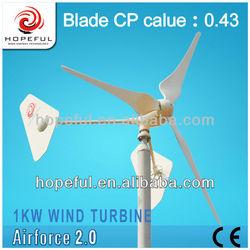 1KW Alternative green energy system domestic wind turbine