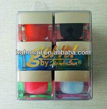 2014 new fashion design color gel nail polish Nail Painting for mini nail polish bottle with brush