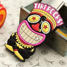 cute 3D cartoon funny clown Tiki Rocks silicone case for samsung galaxy s4 s iv i9500