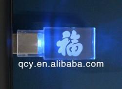QCY-ACU-001 2013 Hot seller 1GB, 2GB, 4GB, 8GB LED acrylic USB