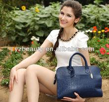 Top quality crocodile leather office ladies handbags women briefcase wholesale