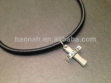 Rock Cross Pendant Necklace