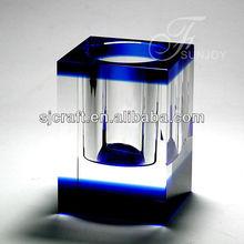 blue crystal office stationery set,crystal pen holder,crystal card holder souvenirs gift crystal Desktop gifts