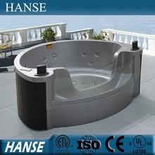 HS-M3348 luxurious triangular hot tub/ 3 person outdoor spa tub/ mini hot tub