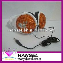 Bling Bling Crystal Rhinestone Foldable Headphones Stereo Headset