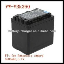 Camcorder battery pack for Panasonic VW-VBK360