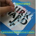 Custom Laminated Stickly Tamper Evident Labels,High Security Water Proof Destructible Labels,Laminated Destructive Vinyl Labels