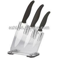 Ceramic knife set with acrylic block knife set acrylic knife block