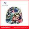 Custom quality 5 panel adjustable cap floral snapback hat