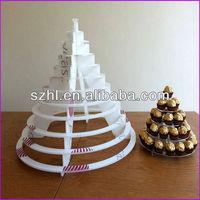 Pyramid shape acrylic chocolate display stands