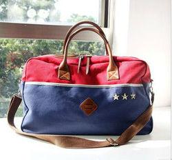 genuine leather women travel bag