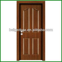 BG-MW9009 Black walnut melamine wood interior door