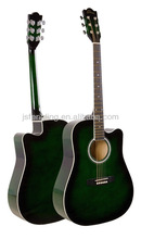 cheap linden plywood acoustic guitar with FSC certificate green