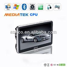 hot sale portable 5 inch GPS navigation+bluetooth+AVIN+4GB ROM