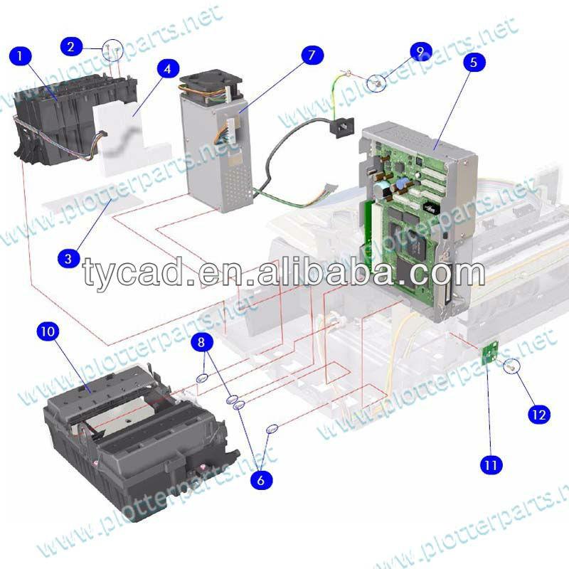 C7796-60029 Ink Supply Station Assembly for HP DesignJet 70/100 ...