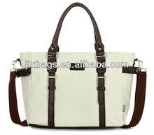 Big shoulder bag ladies canvas fabric handbag