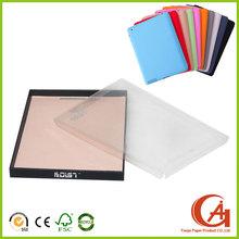 Customized ipad case packaging ,cardboard ipad case box with PVC lid