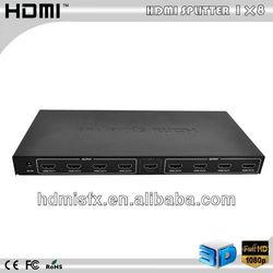 Cheap 3D HDMI Splitter 1*8 For Audio & Video Equipments