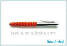 Promotional metal leather pen steel pen