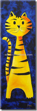 cartoon tiger oil painting artwork for children