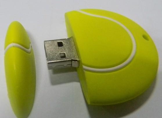 lucky tennis ball shape 32gb customization best selling usb flash drive 2.0