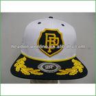 2013 custom flat brim snapback cap 5 panel snapback hats leather strap snapback hat