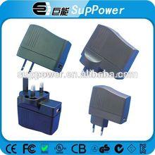 High quality certificate EU power adapter 220v to 5v plus USB power adapter